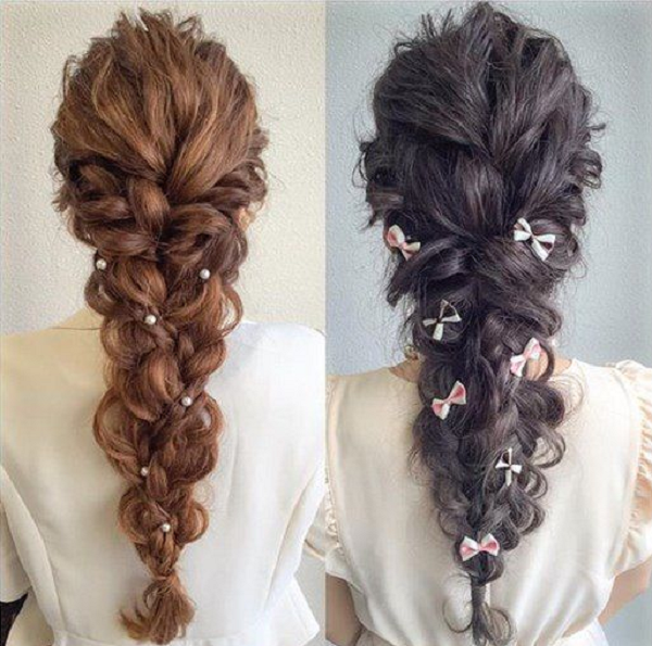 Thick Long Wavy Braid with Various Accessories (2 styles)