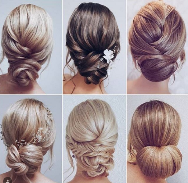 Twisted, Braided, and Sleek Low Buns (6 styles)