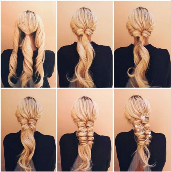 Twisted Low Ponytail to Thick Dutch Braid (2 styles)