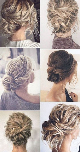 Twisted and Braided Elegant Messy Up Dos (6 styles)