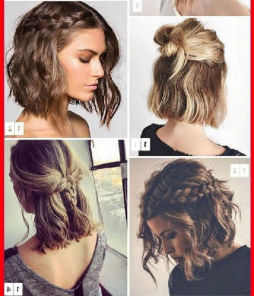 Wavy Braided & Knotted Hairstyles (4 styles)