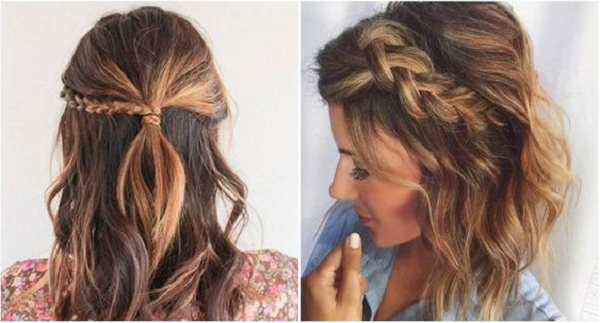 Wavy Long Bob Formal Hairstyles with Braids (2 styles)