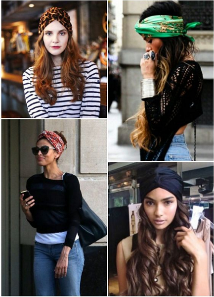 Wavy Long Hair with Turban (4 styles)