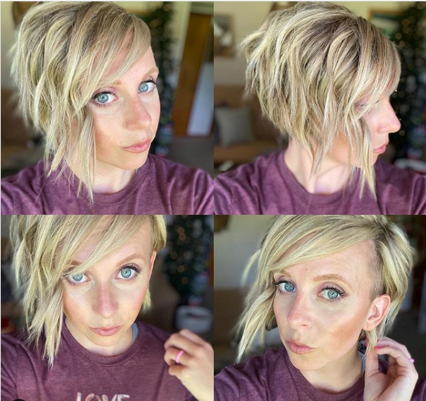 Wavy Side-Parted Long Pixie Cut