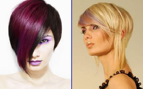 Asymmetrical Sleek Short Hairstyles (2 ideas)
