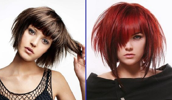 Asymmetrical Spiky and Edgy Short Hairstyles (2 ideas)