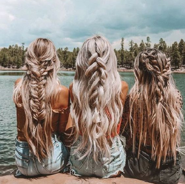 Boho Half Up Half Down Hairstyle with Braids (3 ideas)