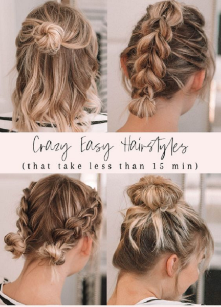 Easy Rubber Band Hairstyles (4 ideas)
