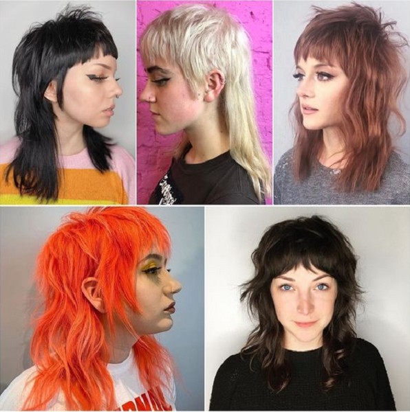 Edgy Mullet Hairstyles with Bangs (5 ideas)