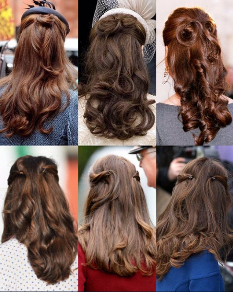Kate Middleton-Inspired Half Up Half Down Hairstyles (4 ideas)
