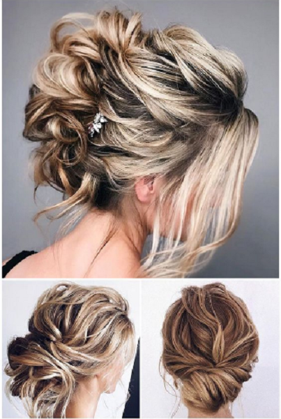 Low Twisted Buns and Messy Up Do (3 ideas)