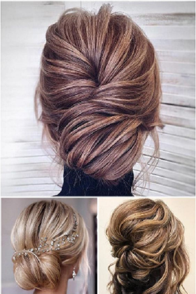 Massive Low Twisted Buns and Wavy Messy Up Do (3 ideas)