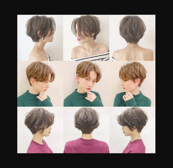 Messy Rounded Out Short Hairstyles with Short Nape and Long Bangs (3 ideas)