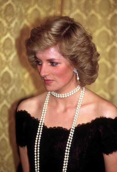 Princess Diana-inspired Short Curly Hairstyle