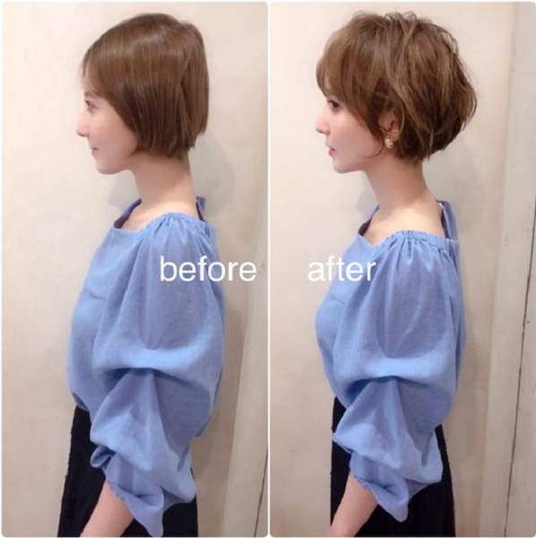 Sleek Flat Short Hairstyle and Messy Feathered Short Hairstyle (2 ideas)