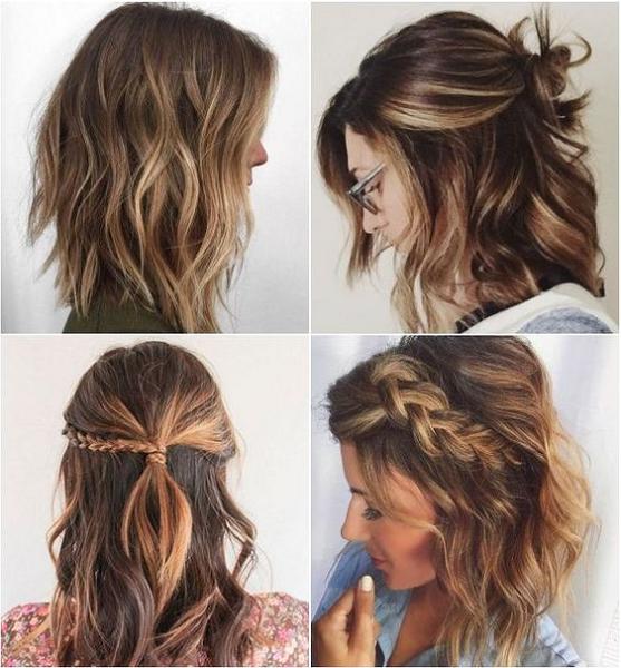 Wavy Half Up Half Down Hairstyles (3 ideas)