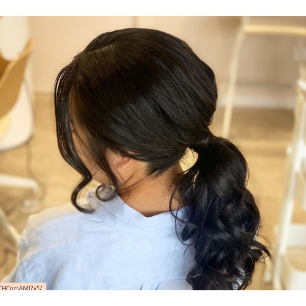 Low Ponytail Fall Hairstyle