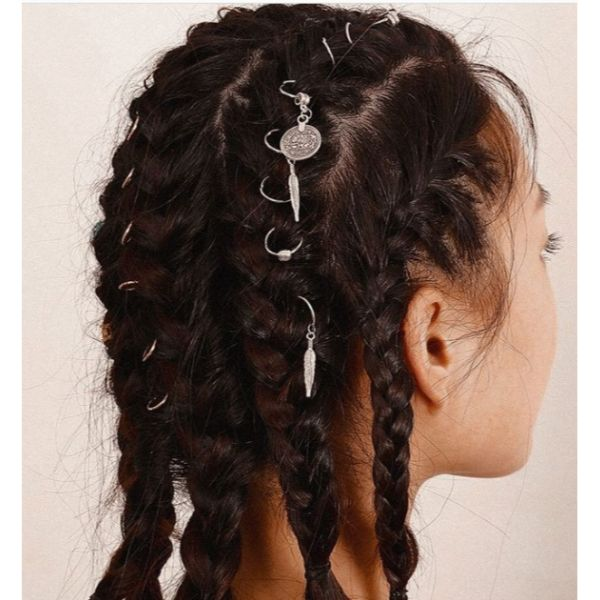 Multiple Braids & Hair Rings