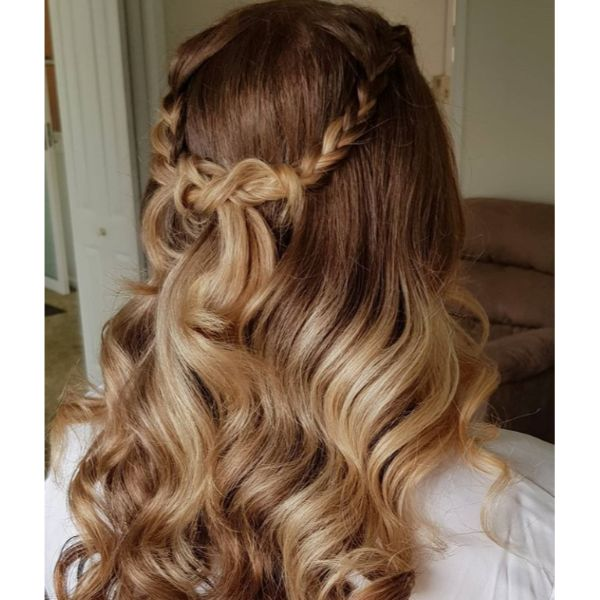 Knotted Half Updo