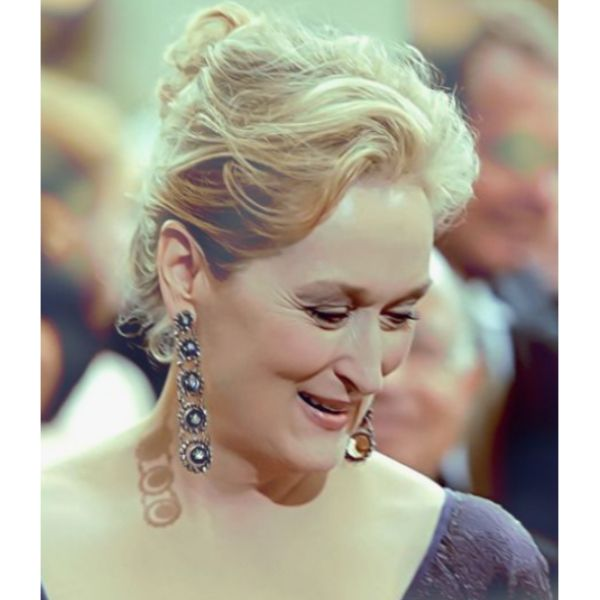 Meryl Streep High Bun