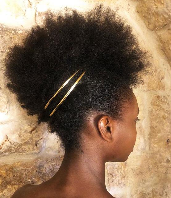 Natural Hair Golden Headpiece