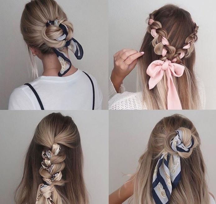 Scarf Updo Four Looks
