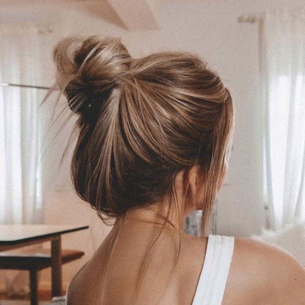 Messy Bun Fall Hairstyle