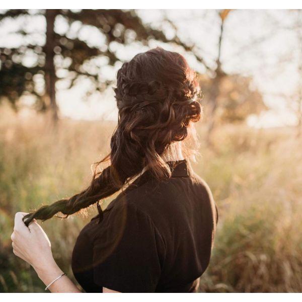Side Braid Fall Hairstyle