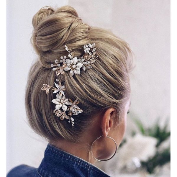 High Bun With Statement Accesories