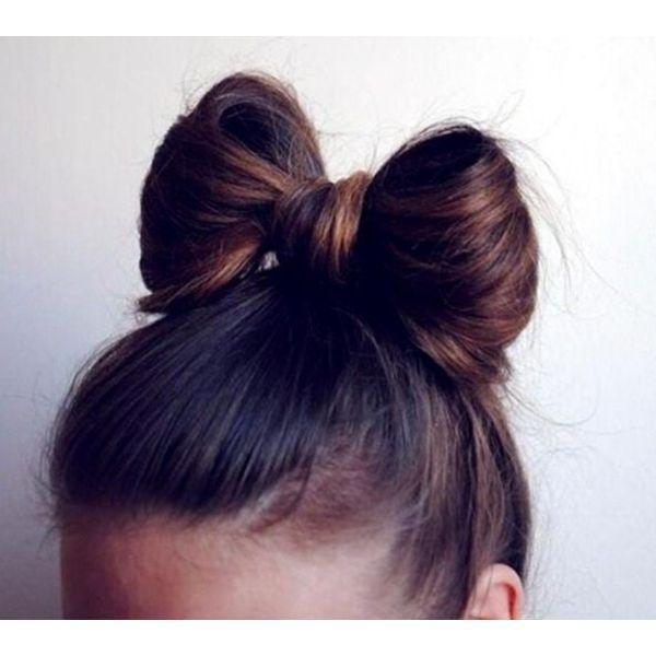 Bow Bun Fall Hairstyle