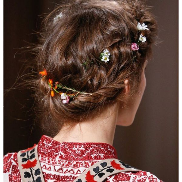 Braided Crown Fall Hairstyle