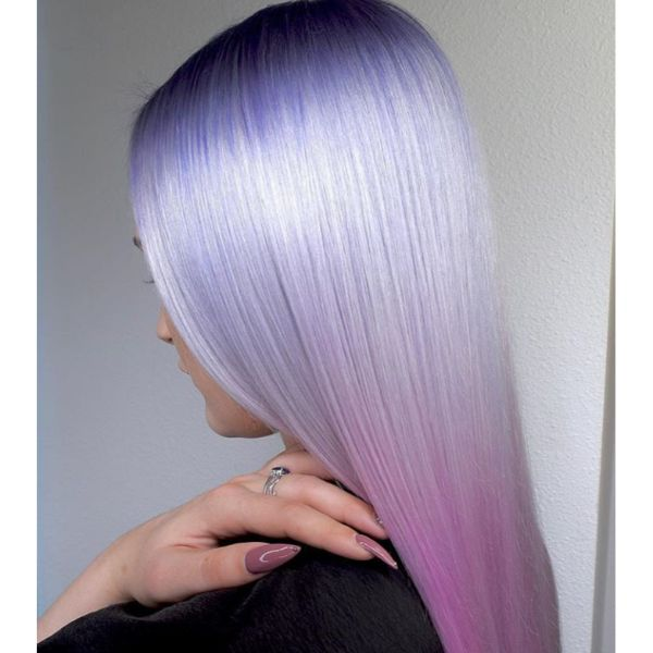 Unicorn Colored Straight Hair