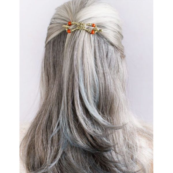 Half Updo Statement Hair Clips