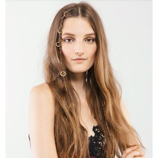 Long & Sleek Look With With Middle Parting