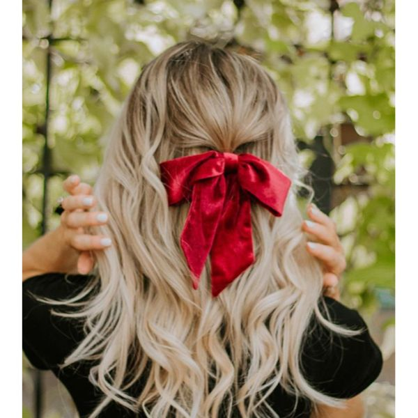 Bow Half Updo Fall Hairstyle