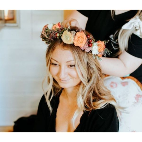 Flower Crown Fall Hairstyle