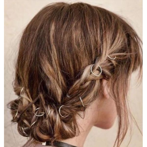 Low, Twisted & Messy Updo