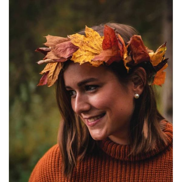 Leaf Crown Fall Hairstyle