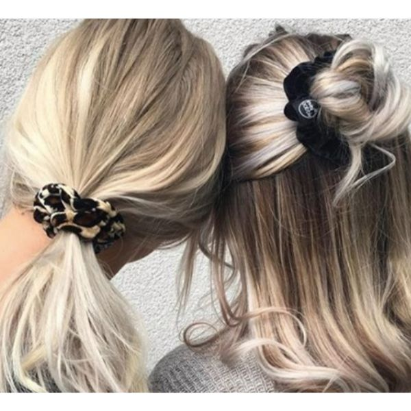 Scrunchie Looks Blonde Hair