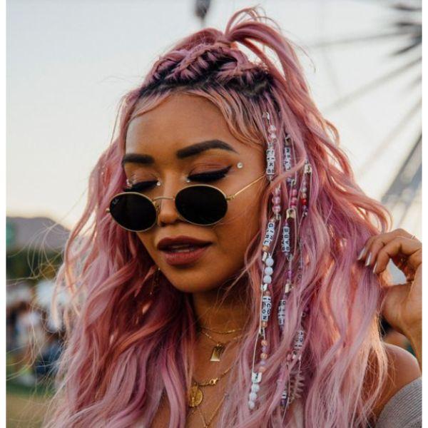Swanky & Pink Festival Look