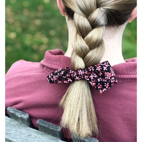 Short Braid With Bow Fall Hairstyle