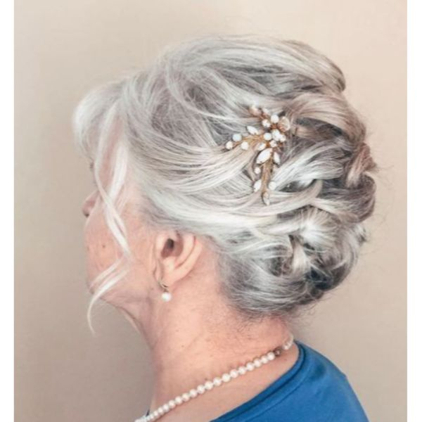 Braided Updo Statement Hair Pins
