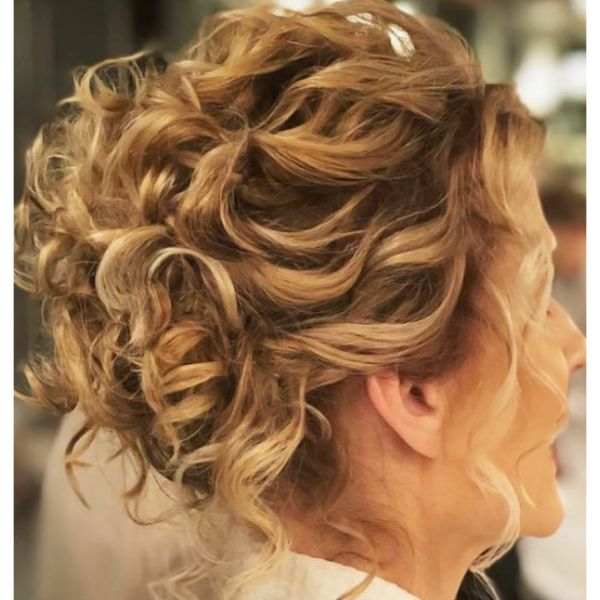 Messy Curly Updo Medium Hair
