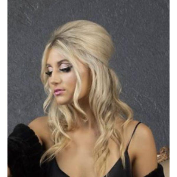 Beehive Blonde Hair