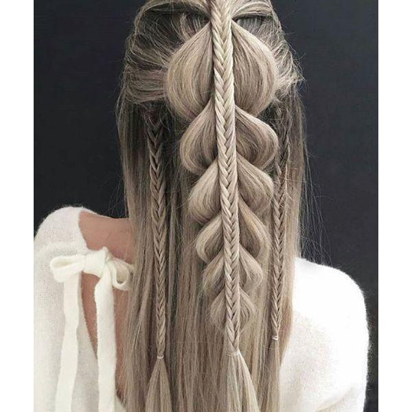 Fantasy Halfdo Straight Hair