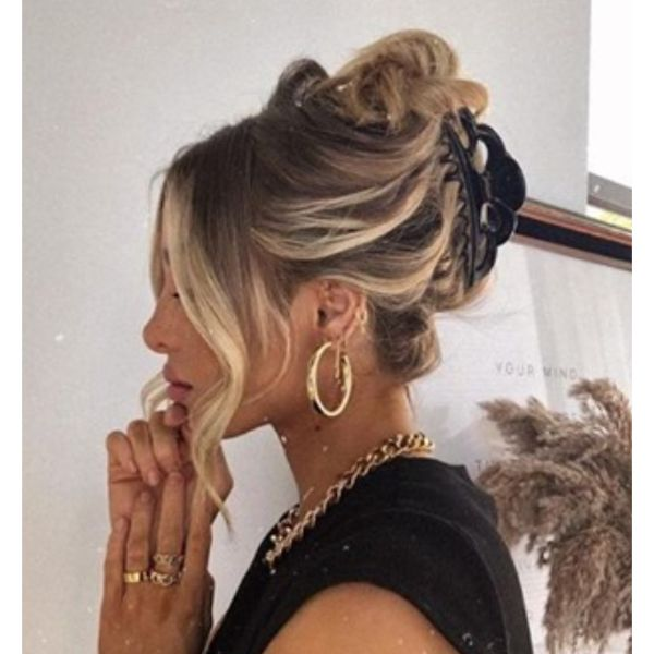 Fancy Clamp Updo