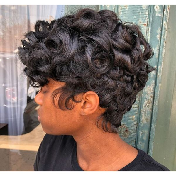 Short Cut With Big Curls