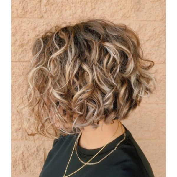 A-Line Bob With Highlights