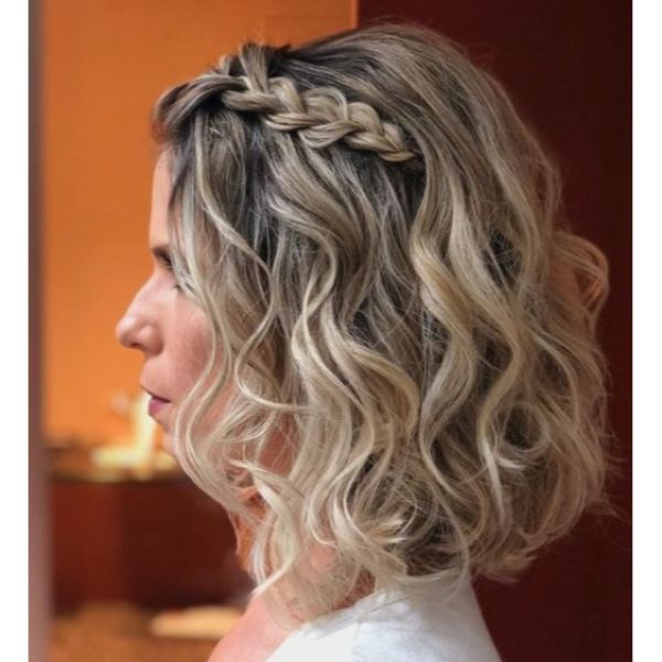 Braided Down-Do For Short & Curly Hair