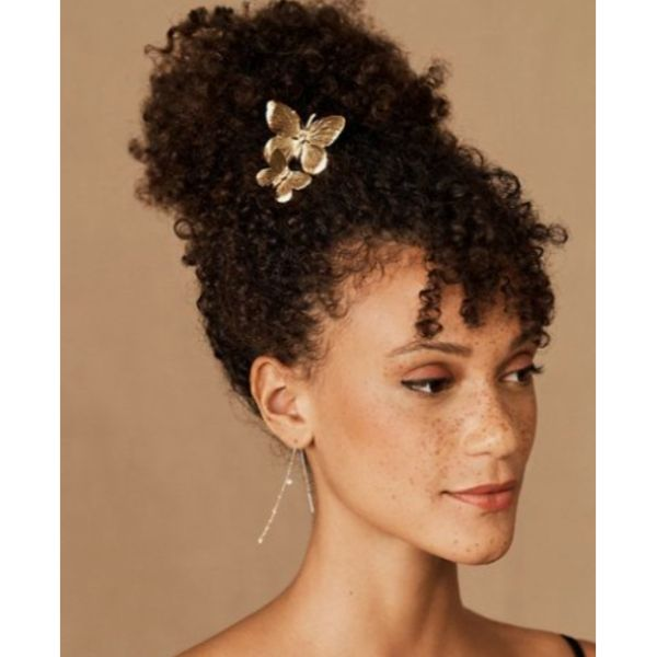 Butterfly Updo For Short & Curly Hair